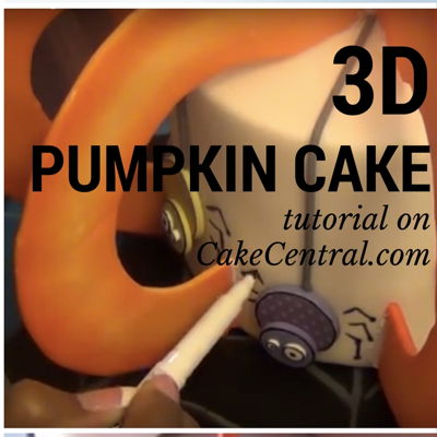 3D Pumpkin Cake Tutorial on Cake Central
