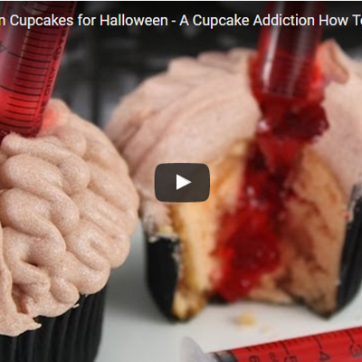 Bleeding Brain Cupcakes Tutorial on Cake Central