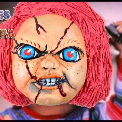 Halloween Cake - Chucky | Child's Play Tutorial on Cake Central