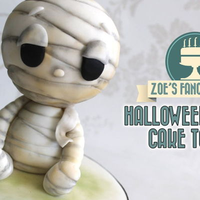 Halloween mummy cake topper on Cake Central
