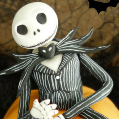 How to make Jack Skellington (Nightmare Before Christmas) out of fondant on Cake Central