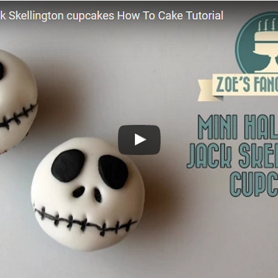 Mini Halloween Jack Skellington cupcakes How To Cake Tutorial on Cake Central