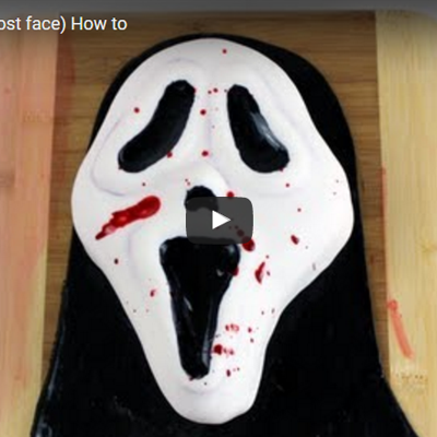 SCREAM CAKE (Ghost face) How to on Cake Central
