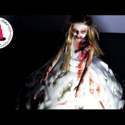 The Walking Dead Zombie Bride Dress Cake on Cake Central
