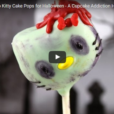 Zombie Hello Kitty Cake Pops Tutorial on Cake Central