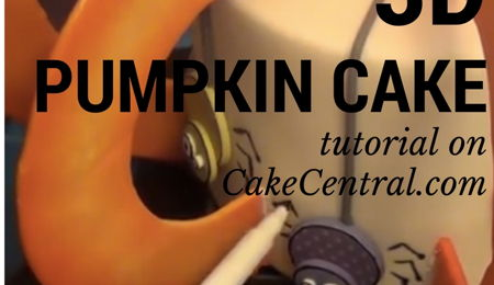 3D Pumpkin Cake Tutorial