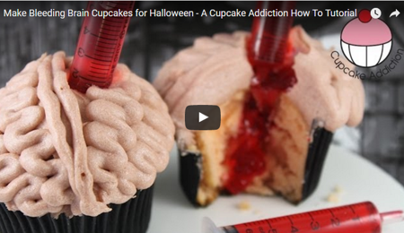 Bleeding Brain Cupcakes Tutorial