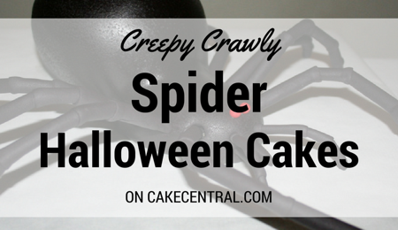 Creepy Crawly Spider Cakes