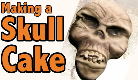 How to Make a Skull Cake for Halloween | Cake Tutorial