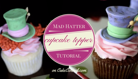 Mad Hatter Fondant Cupcake Topper Tutorial