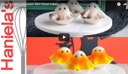 Mini Ghost Cakes for Halloween