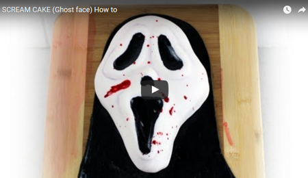 SCREAM CAKE (Ghost face) How to