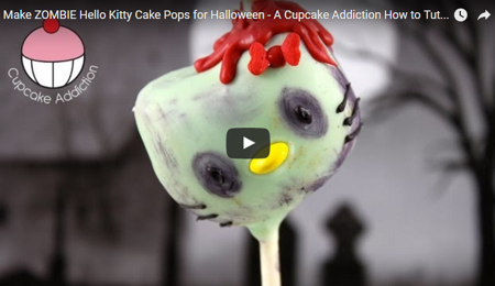 Zombie Hello Kitty Cake Pops Tutorial