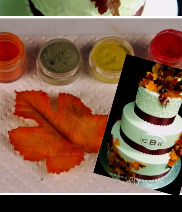 Gumpaste Fall Leaves