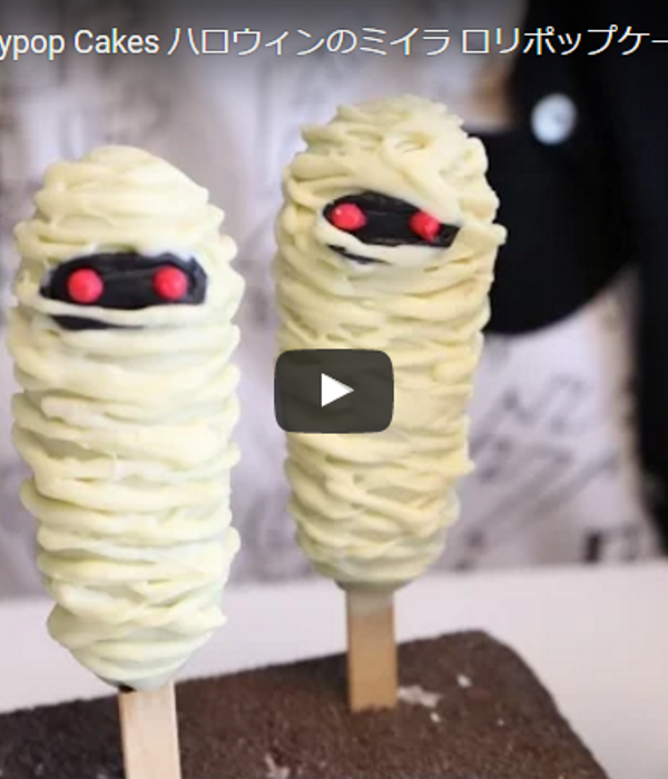 Halloween Mummy Lollipop Cakes