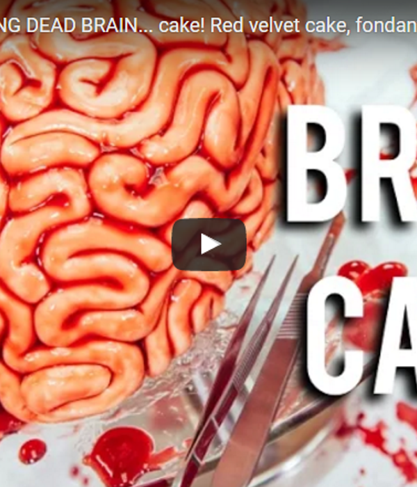 How To Make A WALKING DEAD BRAIN cake