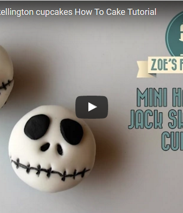 Mini Halloween Jack Skellington cupcakes How To Cake...