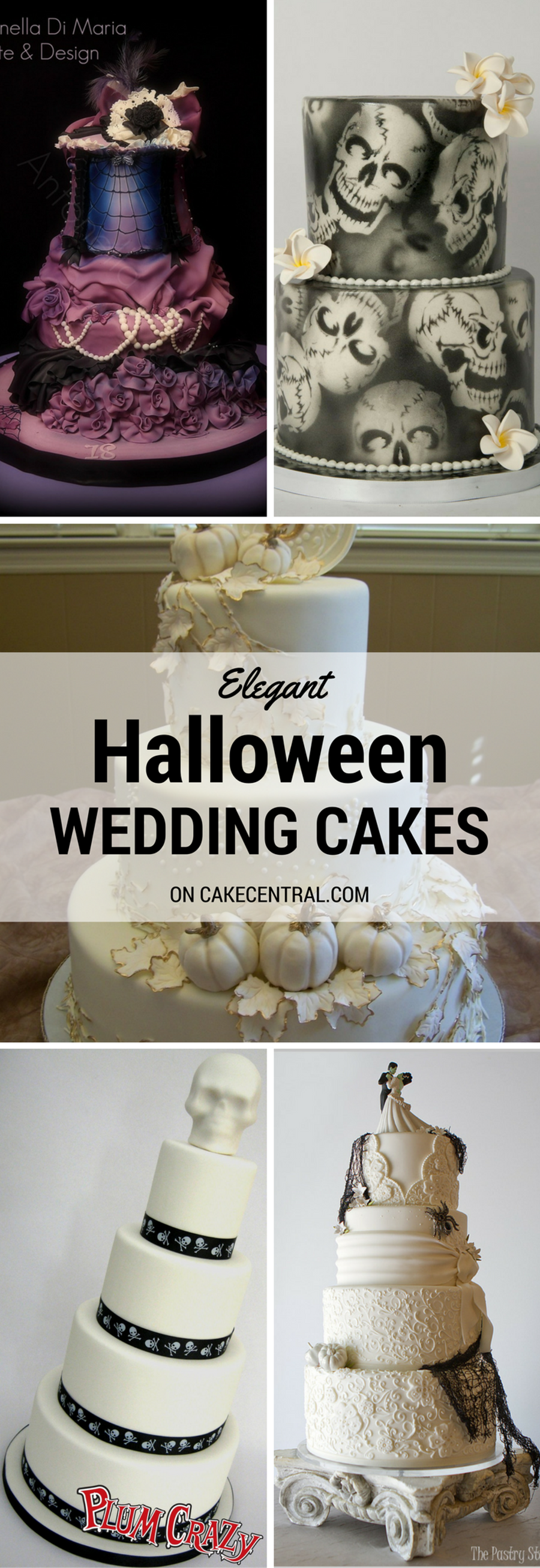 Elegant Halloween Wedding Cakes