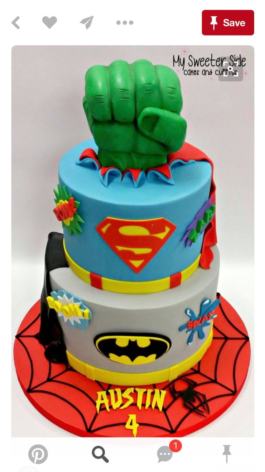 Help Hulk Hand Coming Out Of Cake Cakecentral Com