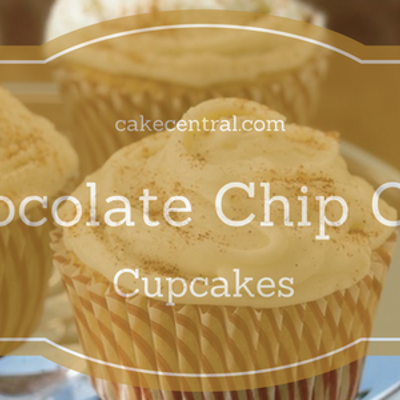 Chocolate chip Chai Cupcakes with Cinnamon Chai ganache frosting on Cake Central