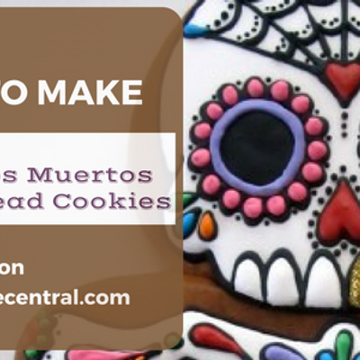 Dia de los Muertos Gingerbread Cookie Tutorial on Cake Central