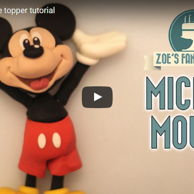 Mickey Mouse Cake Topper Tutorial on Cake Central