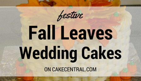 Cakes with Fall Leaves