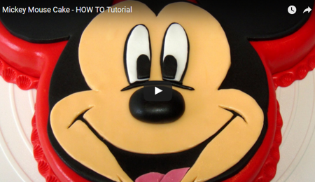 Mickey Mouse Cake - HOW TO Tutorial
