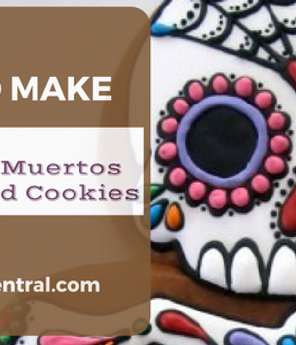 Dia de los Muertos Gingerbread Cookie Tutorial