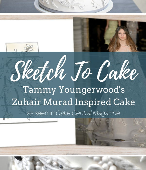 Sketch to Cake: Tammy Youngerwood's Zuhair Murad...