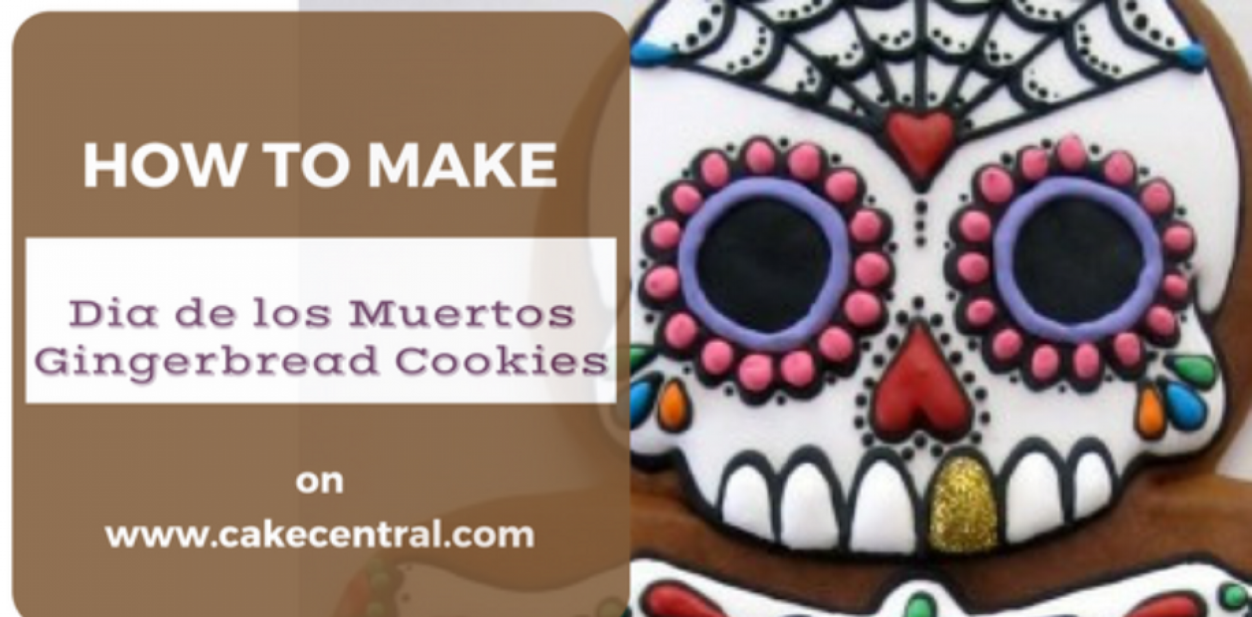 Dia De Los Muertos Gingerbread Cookie Tutorial Cakecentralcom