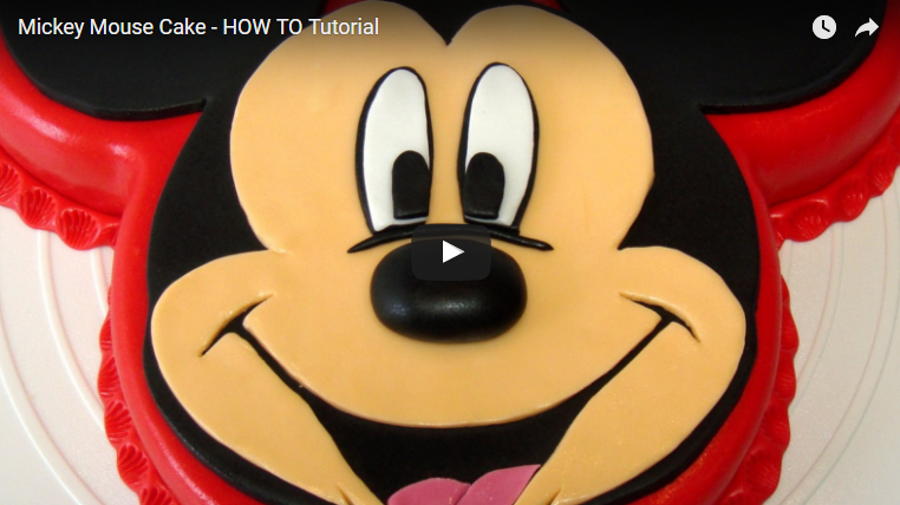 Mickey Mouse Cake How To Tutorial Cakecentral Com