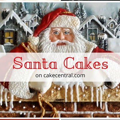 Holly Jolly Santa Cakes on Cake Central