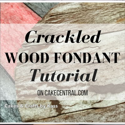 How to: Weathered Fondant Tutorial Using Wafer Paper (Crackle Effect) on Cake Central