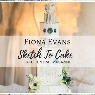 Sketch to Cake: Fiona Evans White Christmas Wedding Cake on Cake Central