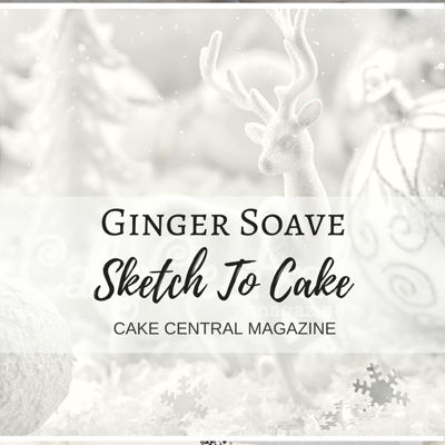 Sketch to Cake: Ginger Soave's White Christmas Wedding Cake on Cake Central