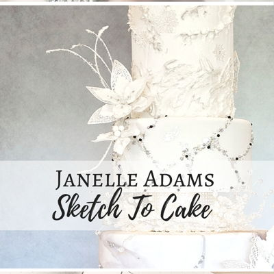 Sketch to Cake: Janelle Adams White Christmas Wedding Cake on Cake Central