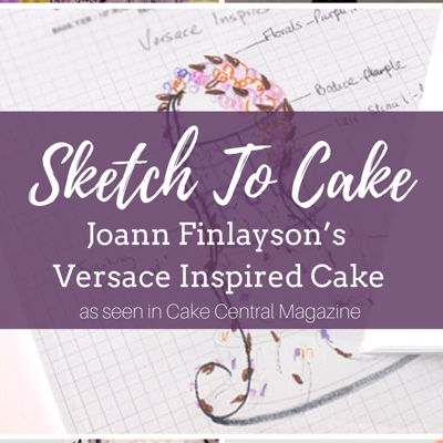 Sketch to Cake: Joann Finlayson's Versace Inspired Wedding Cake on Cake Central