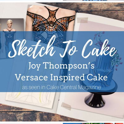 Sketch to Cake: Joy Thompson's Versace Inspired Wedding Cake on Cake Central