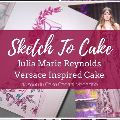 Sketch to Cake: Julia Marie Reynolds' Versace Inspired Couture Wedding Cake on Cake Central