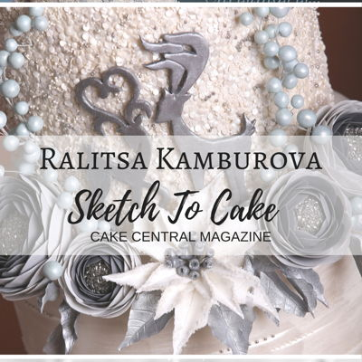 Sketch to Cake: Ralitsa Kamburova's White Christmas Cover Cake on Cake Central