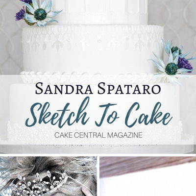Sketch to Cake: Sandra Spataro's Icy Winter Wedding Cake on Cake Central