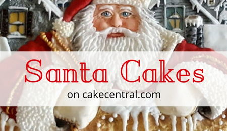 Holly Jolly Santa Cakes