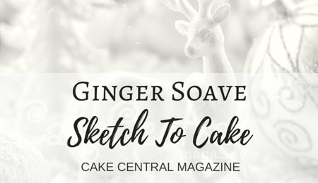 Sketch to Cake: Ginger Soave's White Christmas Wedding Cake