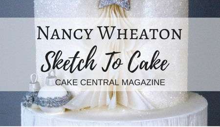 Sketch to Cake: Nancy Wheaton's White Christmas Wedding Cake