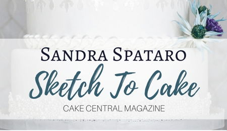 Sketch to Cake: Sandra Spataro's Icy Winter Wedding Cake