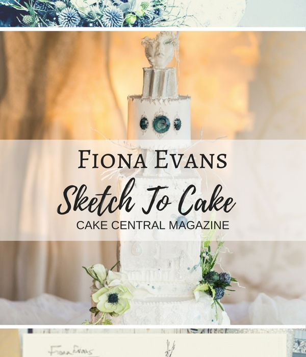 Sketch to Cake: Fiona Evans White Christmas Wedding Cake