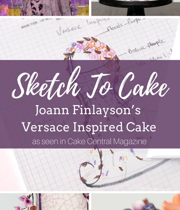 Sketch to Cake: Joann Finlayson's Versace...