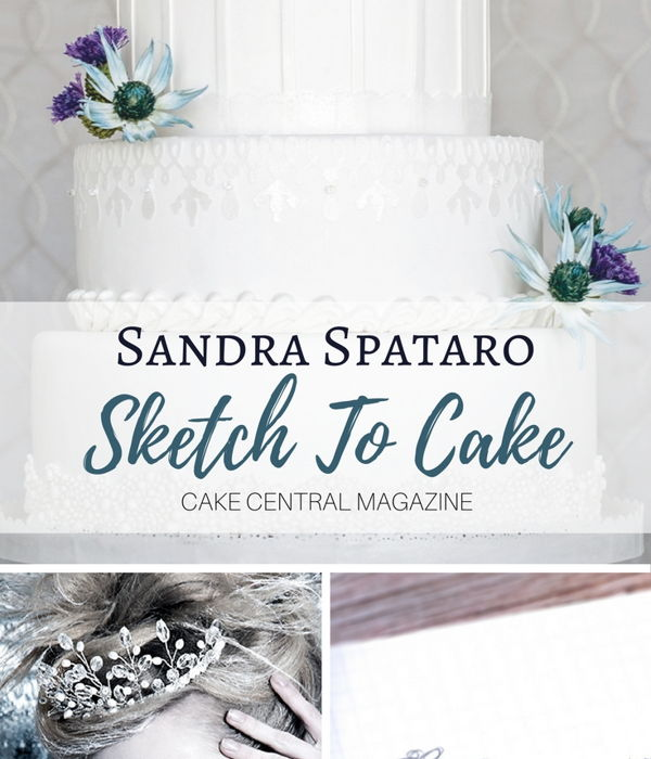 Sketch to Cake: Sandra Spataro's Icy Winter...