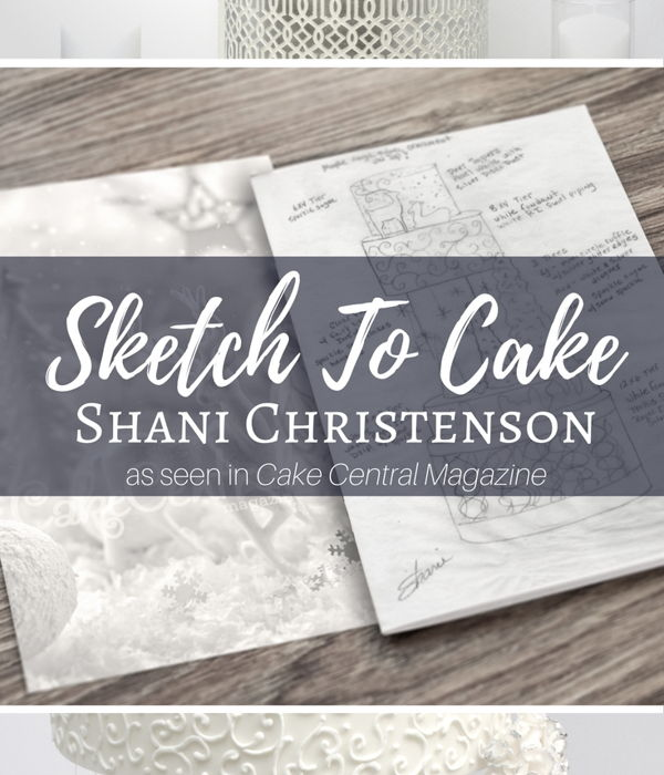 Sketch to Cake: Shani Christenson White Christmas Wedding...